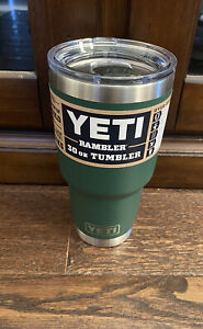 YETI Rambler 30 oz Tumbler with MagSlider Lid North Woods green NO RESERVE