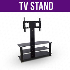 BN Modern Tempered Glass TV Stand With Bracket for Plasma LCD TV 32 to 55 inches