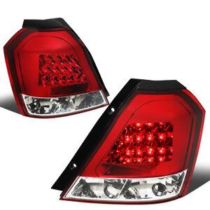 Fit 04-08 Chevy Aveo 5 Hatchback Pair Red Lens Led Tail Light Brake/Reverse Lamp