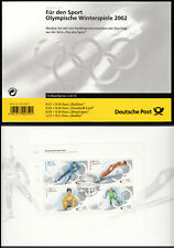 Bund Markenheftchen 47 gest. Olympische Winterspiele 2002 Versandstelle Ersttag