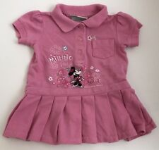 Baby Girl's Walt Disney World Parks Minnie Mouse Size 6mo Pink Polo Dress Wdw