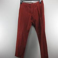 Mens Pants Casual Dress W30 X L32 Slim Banana Republic Red Orange Straight Fit