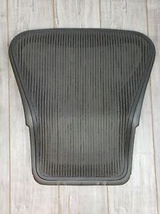 Original Herman Miller Aeron Seat Back Size B Black mesh has a hole