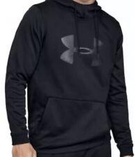 Mens Under Armour Big Logo Hooded Sweatshirt. New. Black. Size Medium