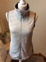 UNDER ARMOUR Grey Marl Blue Cold Gear Zip Up Fitted Gilet Bodywarmer Size XS