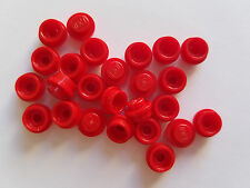 Lego Red Plate Round 1x1, Part 4073 6141, Element 614121, Qty:25 - New