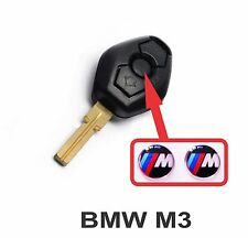 BMW M3 fob key central button domed sticker badge (set of 2).