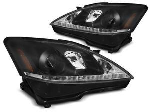 Paire de feux phares Lexus IS 06-13 Daylight DRL led noir (E04)