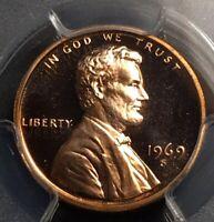 1969 S Proof Penny 1c High Grade Cameo Proof PCGS PR67RD CAM
