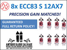New JJ Electronic (Tesla) Precision Gain Matched OCTET (8x) ECC83-S 12AX7 Tubes