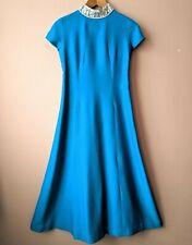 70s Vintage Vestido largo azul de la adolescente Dama de honor Baile de graduación Fiesta Boda adolescente