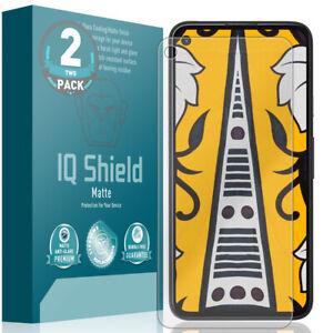 2x IQ Shield Anti-Glare Screen Protector for Google Pixel 4a 5.81-inch