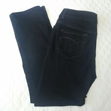 Chico's platinum jeans short size 0.5 black straight leg stretch