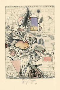Ex Libris Bookplate Exlibris XL Etching by Yuriy Nozdrin - Russia