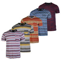 Men's Cotton Regular Fit Boho Style Short Sleeve T-shirts Pocket Tees
