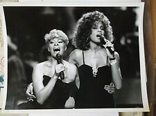 1990 publicity news photo Whitney Houston Dionne Warwick