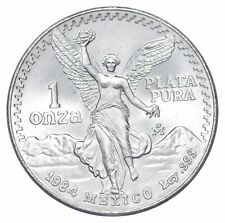Brilliant Uncirculated 1984 Mexico Libertad Onza 1 Troy Ounce .999 Silver *859