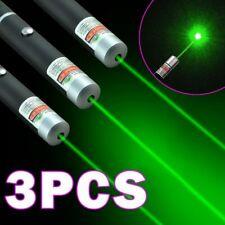 3x 900Miles Green Laser Pointer Pen Aaa Lazer Pet Cat Dog Toy Visible Beam Light