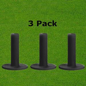 Rubber Golf Tees Driving Range Tees Training Practice Tool 3 Pack Black Durable
