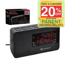 SanSai CR-8818P  AM/FM Dual Alarm Clock Radio - Black