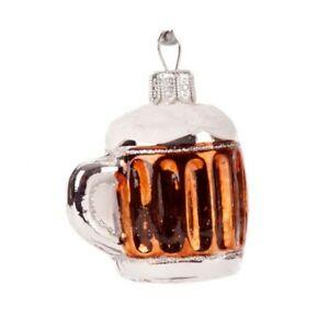 Novelty Glass Handmade Beer Mug Christmas Decoration Tree Ornament Bauble