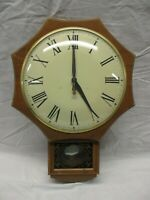 Vintage United Clock Co. #597 Wall Clock Electric Convex Glass (CIE)