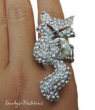 % favorable Mode anillos top pedrería elástico anillo vintage en zorro dedo anillo