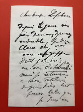 Jean-Jacques HENNER - Lettre autographe signée