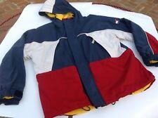 vintage TOMMY HILFIGER Cold Weather Parka HOODED JACKET Winter Coat Colorblock L