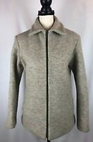 MERLET Original Virgin Wool Unlined Full Zip Coat Italy Womens Size 44 Or US 8