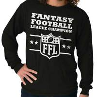 Fantasy Football Champion Sports Draft Team Mens Long Sleeve Tee Shirts TShirt