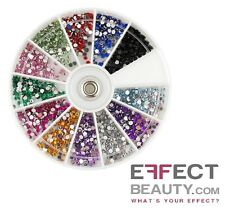 2400 Rhinestone Wheel 12 Colours 2mm Wide Nail Art Manicure Acrylic UK Seller