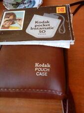 Kodak Pocket Instamatic 50 Camera With Flash Unit, Extra Bulb, Case and Booklet