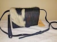 Patricia Nash Traditional Cavalino Cow Lanza Crossbody Leather / Fur NWT -Y