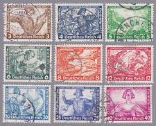Deutsches Reich Wagner Mi.Nr. 499-507 gestempelt
