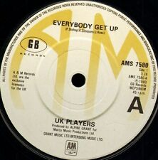 "UK PLAYERS everybody get up/rivers AMS 7580 uk a&m 1980 7"" WS EX/"