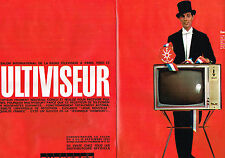 PUBLICITE ADVERTISING  1963    DUCRETET-THOMSON  téléviseur  ( 2 pages)  MULTIVI