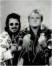 JIMMY HART & GREG VALINTINE AUTOGRAPHED 8X10 WWE WWF HOF