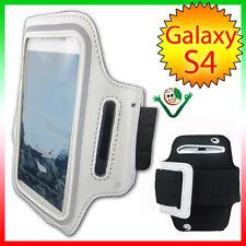 Armbrand banda brazo Deportes para Samsung Galaxy SIV i9505 S4 funda BLANCA