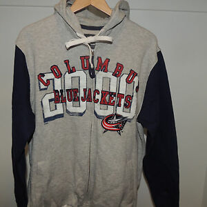 NHL G-III Sports by Carl Banks Columbus Blue Jackets Hooded Sweatshirt Mens XL
