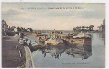 CPA 91260 JUVISY ouverture pêche à la ligne péniches Edit MARQUIGNON ca1906
