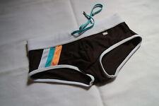 Es collection bañador talla M marrón blanco usado como nuevo Knapp sexy Swim Briefs
