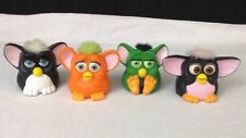 "Lot of 4 Vintage 1990's McDonalds Tiger Electronics Furby 3.5"" Figures Fast Food"