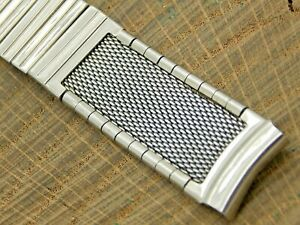Vintage Pre-Owned Stainless Steel Expansion Watch Band Mens 16mm Bracelet