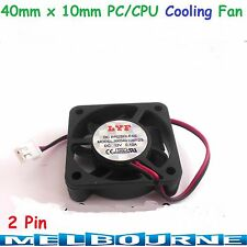 12V 40mm x 10mm 2 Pin CPU Brushless Cooling Fan PC Cooler Heat Sink Black RPM #5