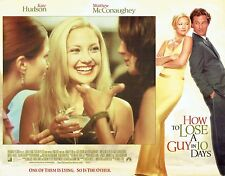 HOW TO LOSE A GUY IN 10 DAYS, 7 mint 2003 Lobby Cards, McCONAUGHEY, Kate HUDSON