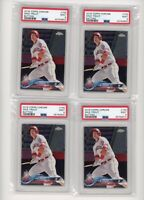 (4) Card Lot 2018 Topps Chrome Mike Trout #100 PSA 9 MINT Graded