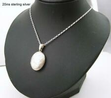 Good Vintage engraved locket with 20ins chain sent in box.