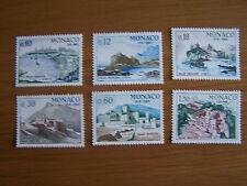 MONACO,1966,PALACES SET,6 VALS,U/MINT, EXCELLENT.