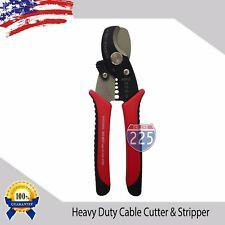 Heavy Duty Cable Cutter & Stripper Cuts Up To 1/0 AWG Strips 8-14 Gauge Wire USA